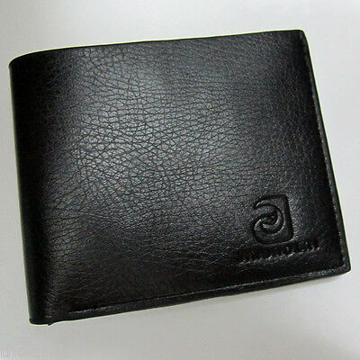 Mens Genuine Leather Wallet Purse Business Card Holder Bifold 3 Colours NEW