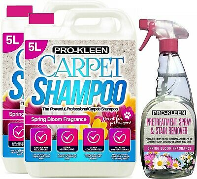 Carpet Cleaning Shampoo Fluid Solution Cleaner With Stain Pet Odour Remover