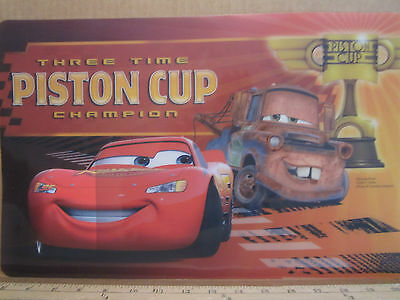 Disney CARS PLACEMAT Vinyl MATER Table Top Home LIGHTNING MCQUEEN Decor GIFT New