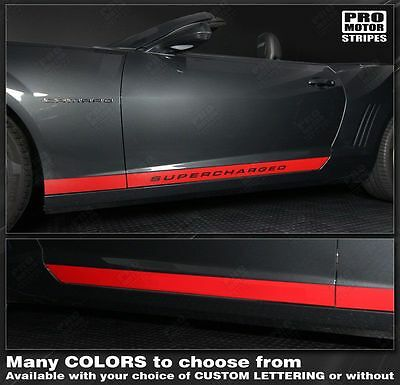 Chevrolet Camaro 2014 2015 Rocker Panel Side Stripes Decals also fit 2010-2013