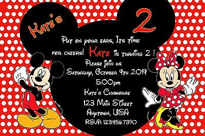 Mickey And Minnie Birthday Invitations could be nice ideas for your invitation template