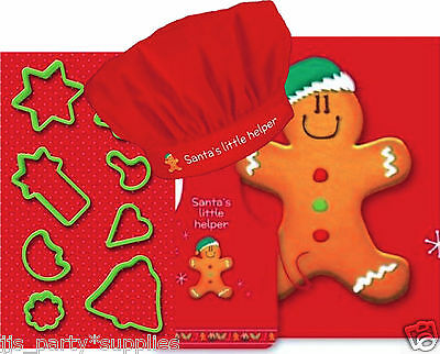Joblot 24 Xmas Kids Gingerbread Cooking Gift Set Hat Apron Cookie Cutter Re Sell