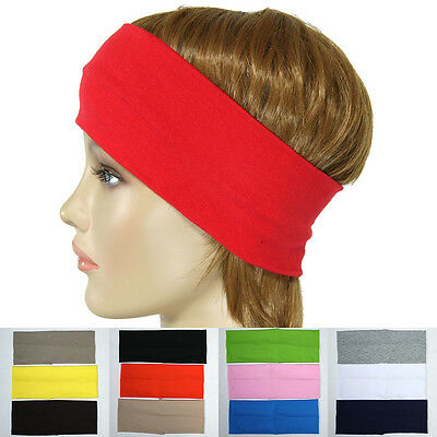2 Piece Ear Warmer Wide Headband Winter Ears Warm Stretch Ski Gym Men Women New