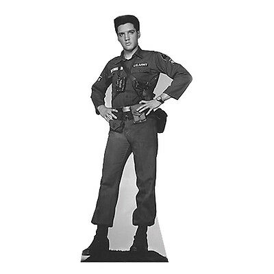 ELVIS PRESLEY Army Fatigues Lifesize B&W CARDBOARD CUTOUT Standup Standee Poster