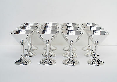 Rare Set 12 Antique Sterling Marshall Field Co Silver Stem Cups Cocktail Goblet