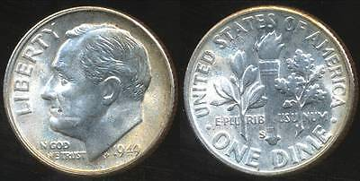 United States, 1949-S Dime, Roosevelt (Silver) - Choice Uncirculated