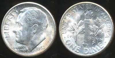 United States, 1952-S Dime, Roosevelt (Silver) - Choice Uncirculated