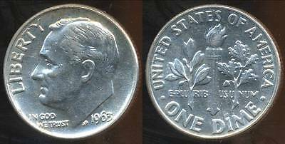 United States, 1963 Dime, Roosevelt (Silver) - Choice Uncirculated