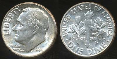 United States, 1949 Dime, Roosevelt (Silver) - Choice Uncirculated