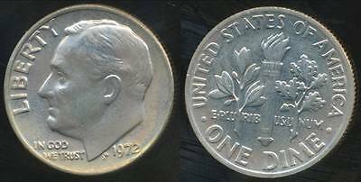 United States, 1972 Dime, Roosevelt - Uncirculated