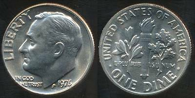 United States, 1976 Dime, Roosevelt - Choice Uncirculated