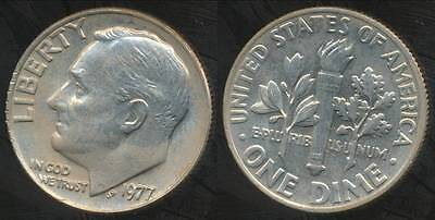 United States, 1977 Dime, Roosevelt - Uncirculated
