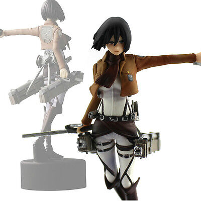 Anime Shingeki No Kyojin Attack On Titan Mikasa Ackerman Figure Figurine Doll