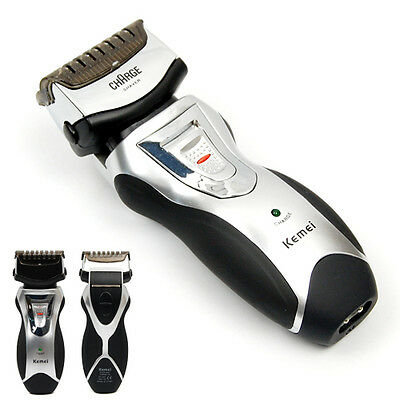 EU Rechargeable Men's Electric Shaver Razor Beard Hair Clipper Trimmer Grooming