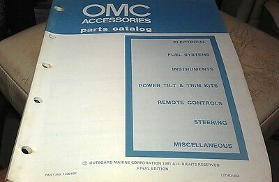 1981 JOHNSON Evinrude OMC Outboard Factory Parts Book -  ACCESSORIES
