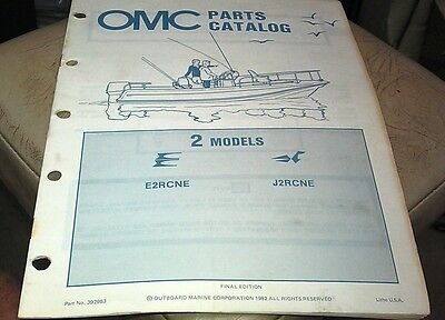 1982 JOHNSON Evinrude OMC Outboard Factory Parts Book - 2hp