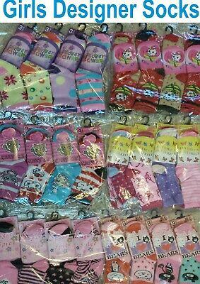 Christmas Gift Girls Children Kids Designer Socks Car Boot Wholesale Job Lot