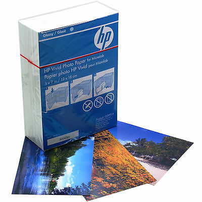"""HP Vivid 7x5"""" Glossy Photo Paper for Inkjet Printers 220 Sheets 230gsm (Q8891A)"""