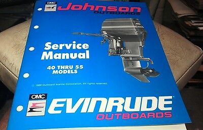 1989 JOHNSON Evinrude  Outboard Factory Service Manual - 40 thru 55  Models