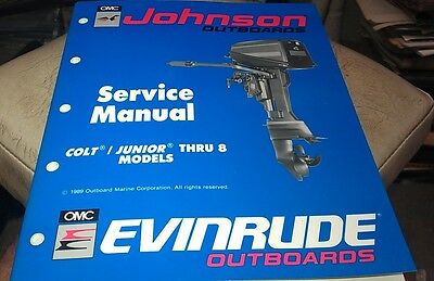 1989 JOHNSON Evinrude  Outboard Factory Service Manual - Colt Junior thru 8hp