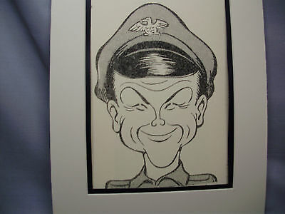 Bob Crane  Caricature Drawing from Studio 54 New York Famous Faces artist