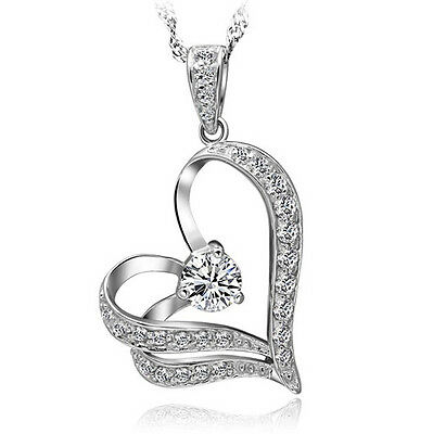 Free Shipping ! Womens 9K White Gold Filled with AAA CZ Necklace Pendant Y-I73-b