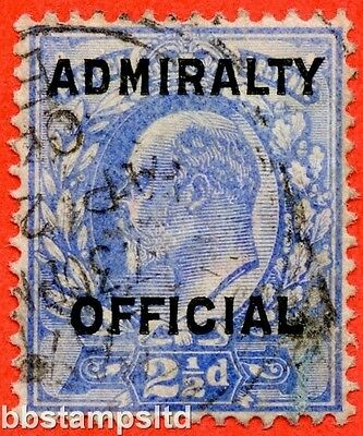 SG. 0111. 2½d Ultramarine. Admiralty official. A very fine used example.