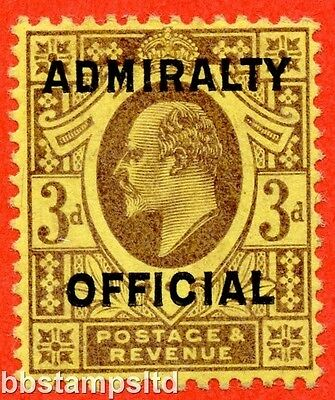 SG. 0112. MO41. 3d dull purple / orange - yellow. Admiralty Official. Type II.