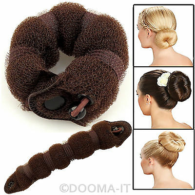 LARGE Wrap On Messy Bun Curly Ponytail Hair Piece Chignon Updo Hair Extension UK