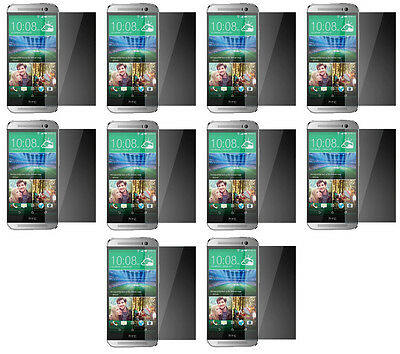 10X High Quality Ultra Slim Tempered Glass Screen Film 9H .3MM for HTC One M8