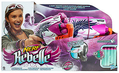 Nerf Rebelle Sweet Revenge inklusive 5 Darts, Quick Draw Holster und Vision Gear
