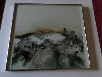 Listed Artist Joanne M Rafferty Signed Original 1976 Mixed Media Abstract Art