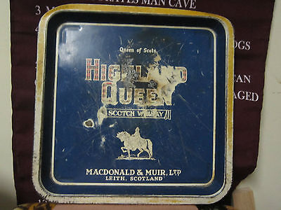 HIGHLAND QUEEN SCOTCH WHISKY TRAY  QUEEN OF SCOTS MACDONALD & MUIR LEITH