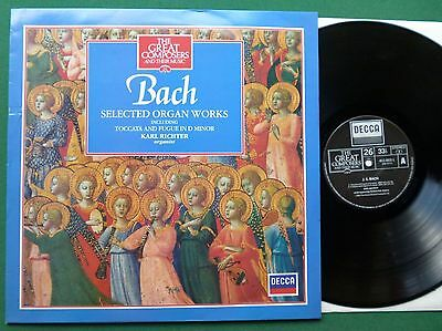 Great Composers 26 Bach Selected Organ Works Karl Richter 411003-1 LP