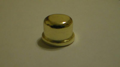 """New 9/16"""" inch Brass Plated & Lacquered Oil Glass Kerosene Lamp Finial Lot of 2"""