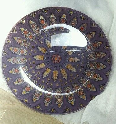 Pilgrim Glass plates set of 4 New! Made in West Virginia Stained glass look