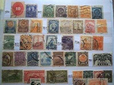 (WK40) 1866-2000 Mexico mix approx 100 stamps F/U (A)