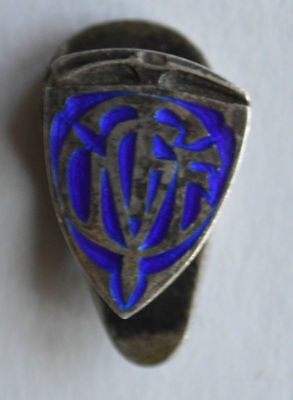 Fascist Badge Mountaineering Union Youth Walkers Turin UGET CAI Mountain Alpine
