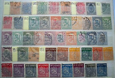 (WK23) 1875-2002 Finland approx 160stamps F/U collections (C)