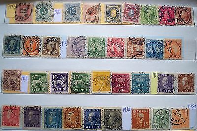 (WK57) 1872-1996 Sweden mix approx120stamps F/U (B)