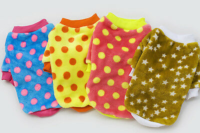 New Puppy Small Dog Cat Pet Warm Point Coat Sweater Hoodies Winter Clothes