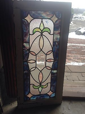 Sg 46 Very Attractive Antique Stained Glass Would Bevill Center Transom Window