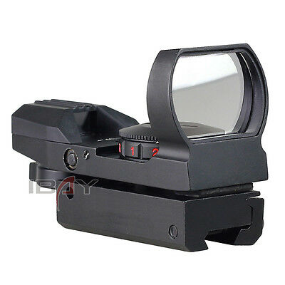 Holographic Red Green Dot 11mm Sight 4 Reticle Tactical Reflex Air Rifle Pistol