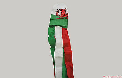 WALES Windsock wind sock 5 feet 150cm 60 inches flag flags WELSH DRAGON