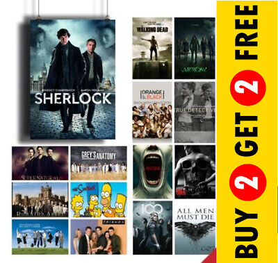 BEST TV SERIES POSTERS, High Quality Glossy Prints A3 A4 Size Tv Show Posters