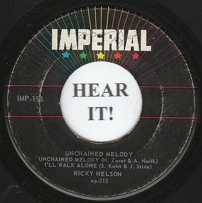Ricky Nelson ROCKABILLY TEEN EP-Imperial 158-Unchained Melody/There Goes My Baby