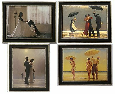 Set of 4 Jack Vettriano Framed Canvas Effect Prints 55cm x 42cm