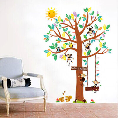 wandtattoo wandsticker xxl tiere kinder baum affen kinder. Black Bedroom Furniture Sets. Home Design Ideas