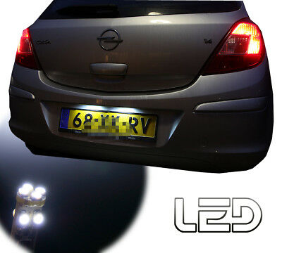 OPEL CORSA D 2 Ampoules LED blanc eclairage plaque immatriculation