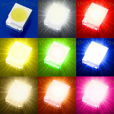50~1000pcs 3528 1210 SMD SMT PLCC-2 LED Light DIY 20mA super bright 3.5mmX 2.8mm